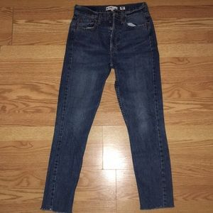 RE/DONE Originals raw edge ankle jeans